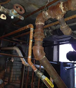 Exposed Boiler Room Piping